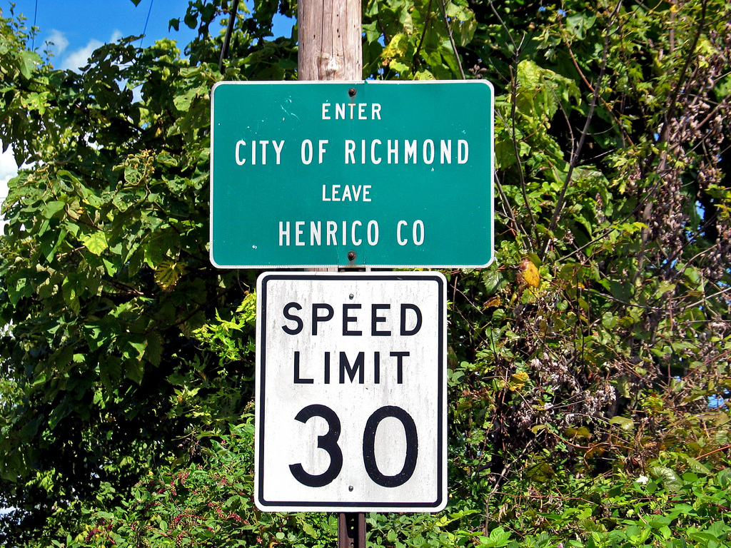 Henrico and Richmond Road Sign